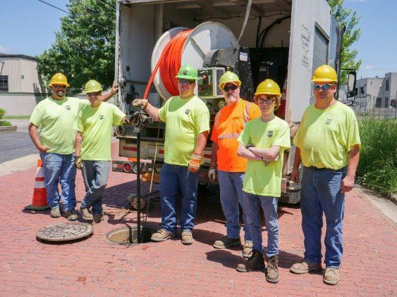 Group of Sewer Maintenance Employees