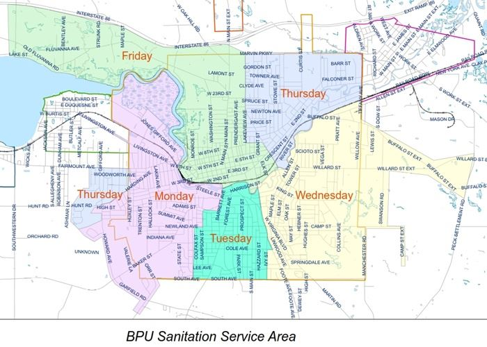 Solid Waste Service Map