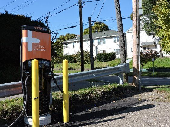 Electric Vehicle Fast Charger on Fourth Street