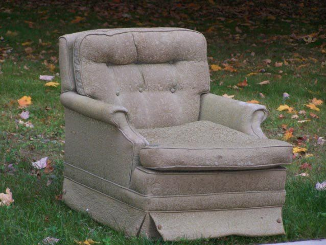 Chair scheduled for large item pick-up