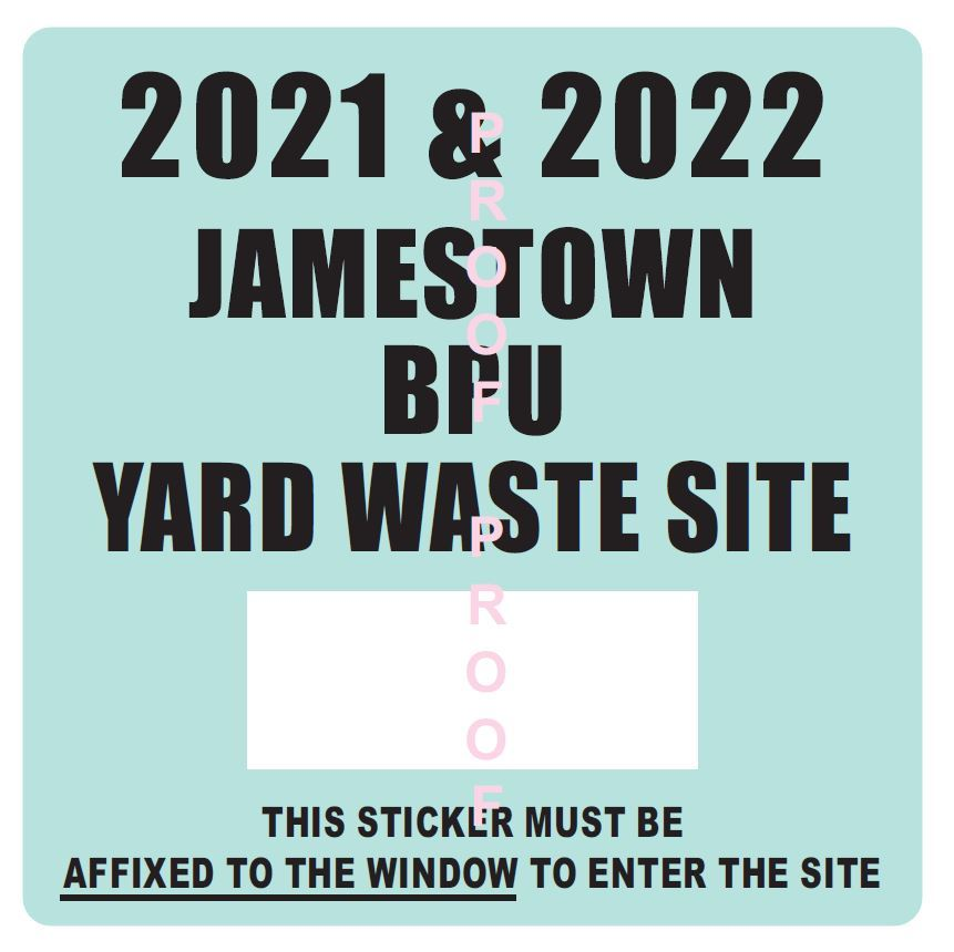 2019 and 2020 Yard Waste Sticker